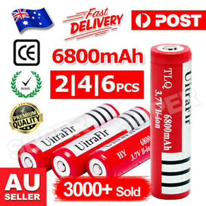 2/ 6/ 10x BRC 6800MAH 3.7V Rechargeable Lithium Battery Batteries
