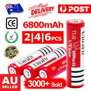 2/ 6/ 10x BRC 6800MAH 3.7V Rechargeable Lithium Battery Batteries