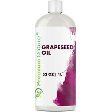 Grapeseed Oil 32 Oz 100% Pure Natural Carrier Cold Pressed For Skin Hair Massage