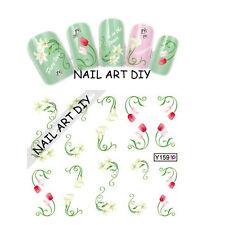 20 nail art stickers-decals water transfer- tattoo adesivi Fiori !!