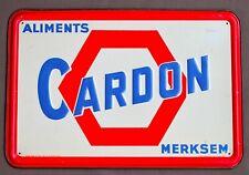 Blikken reclamebord ALIMENTS CARDON MERKSEM - 1960