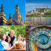 5T Kurzreise 33 Hotels - 20 Städte Venedig, Weimar, München, Prag - 2P + Kinder