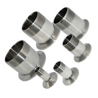 """1/2"""" to 2"""" Sanitary Male Threaded Ferrule Pipe Fitting Tri Clamp Type SS316 Hot"""