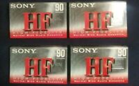 Sony HF 90 IEC I/Type 1 Normal Bias cassette tapes lot of 4 New FREE SHIPPING