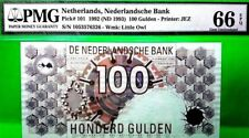 NETHERLANDS 100 GULDEN 1993 NEDERLANDSCHE BANK PICK 101 GEM UNC $1000