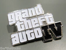 $$$$GRAND THEFT AUTO IV Logo Pin Badge $$$$Rockstar Games $$$$LIMITED EDITION