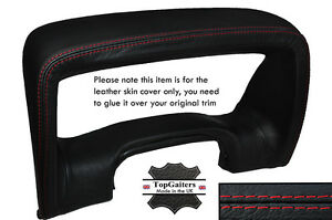 RED STITCH SPEEDO SURROUND HOOD LEATHER SKIN COVER FITS HUMMER H3 2005-2011