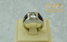 Siegelring 0,585 Weißgold, Diamanten 0,94Ct VS und Blauer Saphire 12000€ Wert