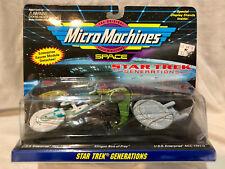 MICRO MACHINES SPACE - STAR TREK GENERATIONS - 3 SHIP SET - NEW - RARE - 1994