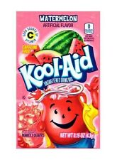10 Packs Kool-Aid WATERMELON Unsweetened Drink Mix Packets