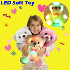 Birthday Gift Toys for Girls LED Stuffed Cute Bear Toy Kids Night Light Colorful