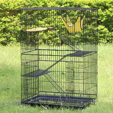 """48"""" Pet Kennel Cat Dog Folding Steel Crate Animal Playpen Wire Metal Cage"""