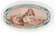 (I.B) Netherlands Cinderella : National Insurance Label (Home Staff)