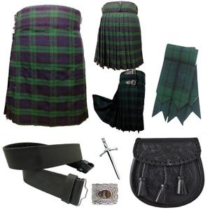 Mens Scottish Highland Kilts, 5 Yard Traditional Dress Skirt Tartan