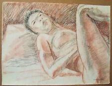 """FEMALE NUDE"" by Ruth Freeman PASTEL 18"" X  23 3/4"""