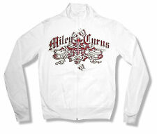 """MILEY CYRUS """"BANNER 2006"""" TOUR WHITE TRACK JACKET NEW OFFICIAL LADIES XL X-LARGE"""