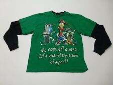 Hybrid Tees Shirt Boys Size Small Green T Shirt Great Condition