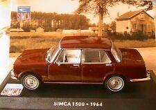 SIMCA 1500 1964 MARRON 1/43 IXO ALTAYA MINT BOX BROWN 4 PORTES BERLINE 4 DOORS