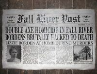"(371) NOVELTY POSTER HALLOWEEN LIZZIE BORDEN FALL RIVER MASS. AXE MURDER 11""x17"""