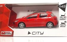 "MondoMotors 53195 PEUGEOT 308 ""Rossa"" - METAL Scala 1:43"