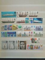 GREAT BRITAIN 1969 COMMEMORATIVE STAMPS YEAR SET MNH MINT 8 x SETS 33 x STAMPS