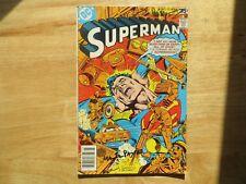 1978 VINTAGE SUPERMAN # 321 SIGNED 2X JOSE GARCIA-LOPEZ & MARTY PASKO, WITH POA