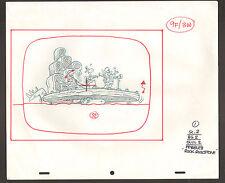 "Flintstones Animation Art - Pebbles ""Rock Rockstone"" Fred, Scene 2 Bg 2 Olul 2"