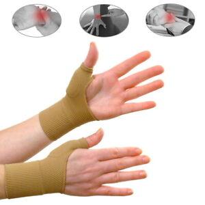 1 Pair Ligament Strain Compression Elastic Thumb Brace Support Arthritis Wrist