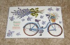 PSX Designs Sticker Sheet ~ Lavender Florals w/Old Fashioned Bicycle