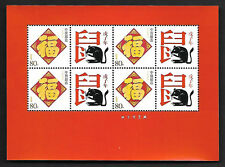 China 2008-1 New Year of the Rat Special S/S Zodiac Animal 戊子年鼠 福