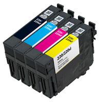 4PK Remanufactured Epson 220 220XL Ink for WF-2630 WF-2650 WF-2660 WF-2750