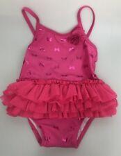 Crazy 8 tutu swim suit pink one piece 18-24 months butterflies