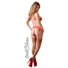 Cottelli Collection Calze rosse Intimo Donna Nylon con Cucitura