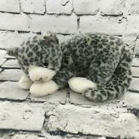 Ty Beanie Buddies Leopard Cheetah Cat Gray Spotted Laying Stuffed Animal Toy