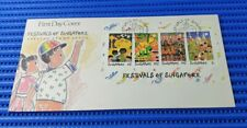 1989 Singapore First Day Cover Festivals of Singapore Commemorative Stamp Issue