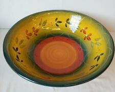 Tabletops Gallery La Province HandPainted Centerpiece Large Serving Bowl 14.5""