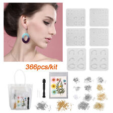 366pcs Silicone Earring Necklace Pendant Mold Resin Casting Molds Jewelry Making
