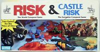 Risk and Castle Risk Board Game  Parker Brothers 1990 War Conquest World Family