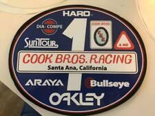 Old School OVAL BMX Number plate by OGK JAPAN -COOK BROS. BMX RACING