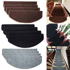 15PCS Non-slip Mat Tread Carpet Stair Staircase Mats Floor Step Protection Cover