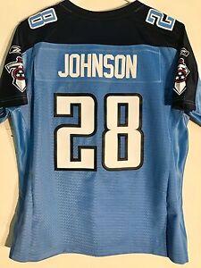 Reebok Women's Premier NFL Jersey Tennessee Titans Chris Johnson Light Blue sz L