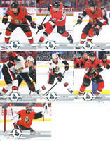 2019-20 Upper Deck Series 2 Ottawa Senators Team Set of 7 Cards