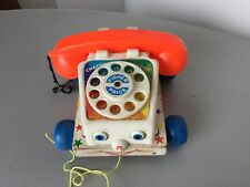 VINTAGE # FISHER PRICE CHATTER BOX PHONE TELEPHONE PULL TOY