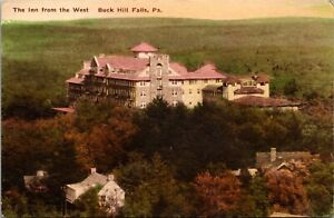 Hand Colored Postcard The Inn from the West in Buck Hill Falls Pennsylvania~3765