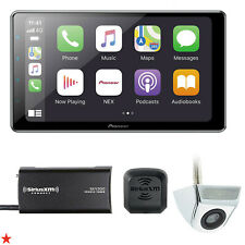 "PIONEER DMH-WT7600NEX 9"" + SIRIUSXM TUNER SXV300V1 + ABOVE PLATE BACKUP CAM NEW!"