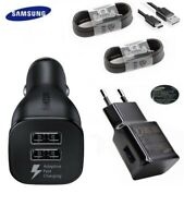 Original Samsung Rapido Cargador Coche USB-C Cabel Para Galaxy S10 S9 S8+ Note 9