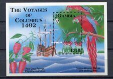 27792) GAMBIA 1992 MNH** Nuovi** Birds & Flowers Columbus