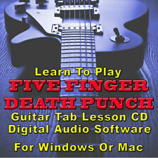 Five Finger Death Punch Guitar Tab Lesson CD Software - 46 Songs
