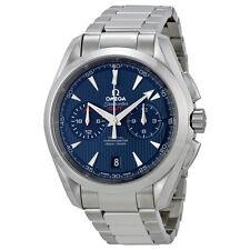 Omega Seamaster Aqua Terra Blue Dial Chronograph GMT Mens Watch