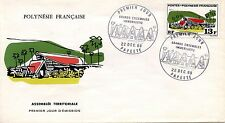 FDC / PREMIER JOUR POLYNESIE / TIMBRE N° 72 GRANDS EDIFICES / PAPEETE 1969
